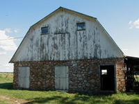 Monett barn facade . . .